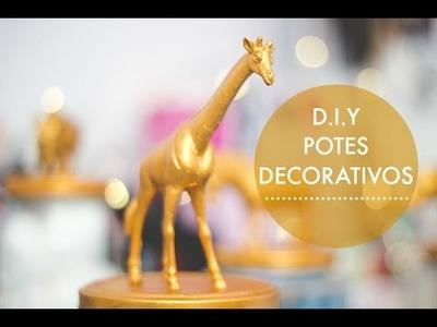 D.I.Y: Potes dourados decorativos | Melina Souza