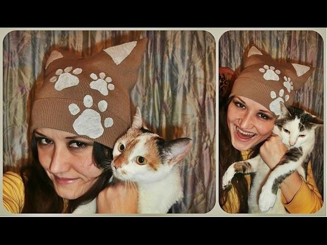 DIY. Cat paws beanie - Macka sapice kapa - inspired by Miumiku Miau
