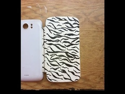 DIY cell phone case - Turn an old case into a new one! Zebra animal tiger pattern design