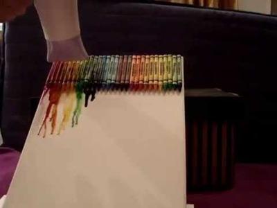 DIY : Crayon Melting Art - Obraz z voskovek
