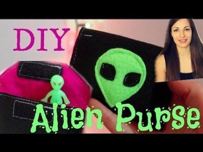 DIY Easy Alien Purse - How to make a cute and simple velcro pouch