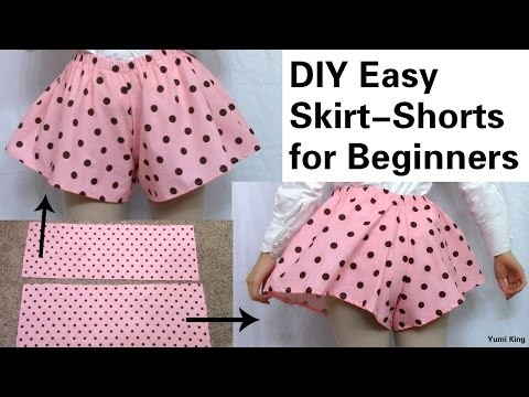 DIY Easy Skirt Shorts | DIY Skirt Shorts out of 2 Rectangles + Review