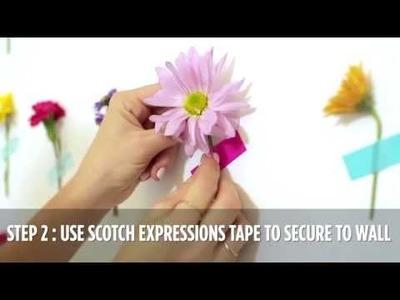 DIY Fresh Flower Backdrop