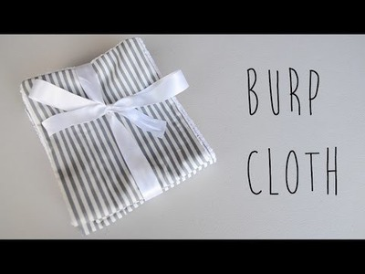 DIY How to Make Baby Burp Cloth (Easy Baby Shower Gift) | Ali Coultas