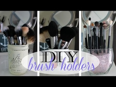 DIY makeup brush holders | Quick and Easy