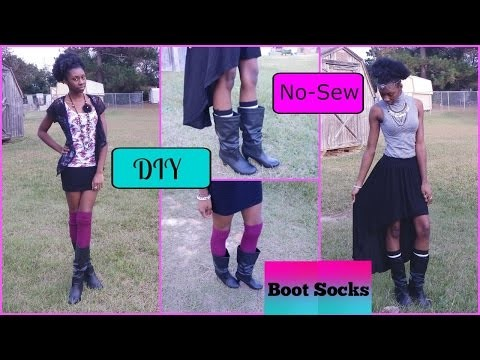 DIY No-Sew Boot Socks. Leg warmers + Outfit Styling