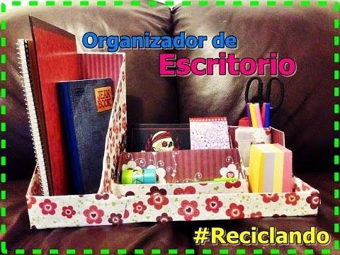 DIY  Organizador de escritorio  Reciclaje