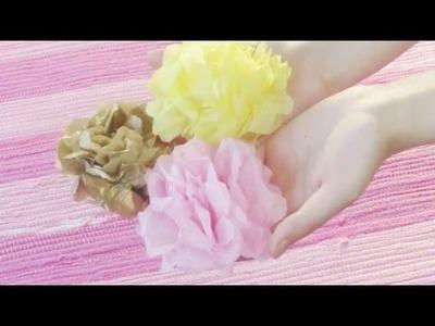 DIY Tissue Paper Flower Garland - Room Decor Idea
