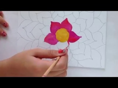 DIY tropical flower painting