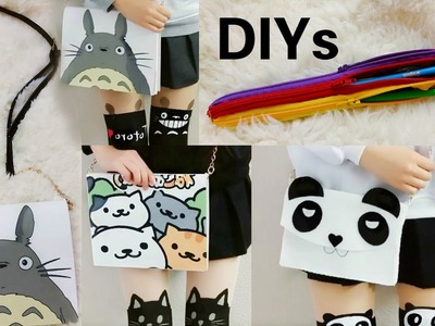 3 Creative DIYs:DIY Multiple Zippers Pencil Case:DIY Totoro&Neko Purse Notebook+DIY Panda Purse