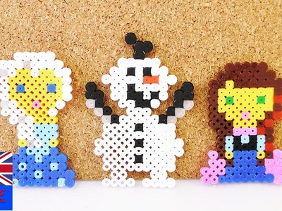 Beads making Olaf Frozen design | Iron beads craft | Beads making tutorial for beginners | Kids