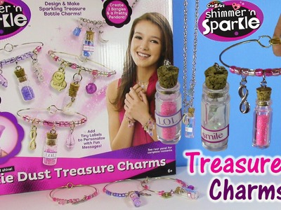 Cra-Z-Art Shimmer n Sparkle Pixie Dust Treasure Charms! Make Glitter Jewelry! LIP GLOSS