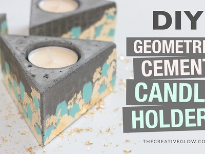 DIY Cement Geometric Candle Holders