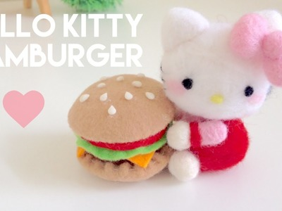 DIY Hello Kitty & Burger Plush Needle Felt Tutorial