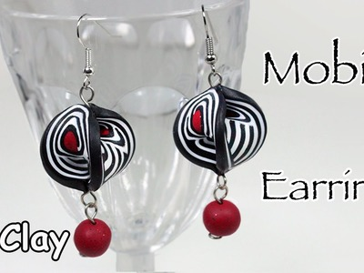 DIY Mobius earrings with easy millefiori cane