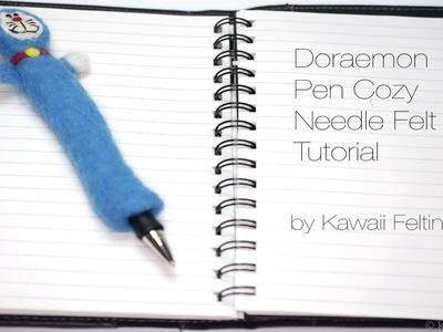 Doraemon Pen Cozy | Needle Felt Tutorial