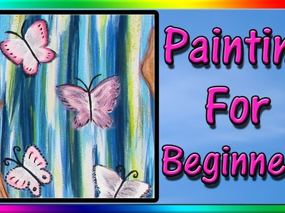 Easy Acrylic Painting for Beginners - Abstract Painting