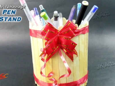 Easy Pen Stand. Holder with Ice Cream Stick. Popsicle Sticks | How to make | JK Arts 919