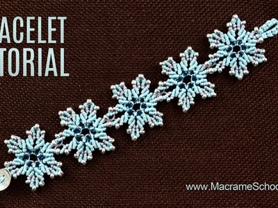 Frozen Flower Bracelet Tutorial by Macrame School