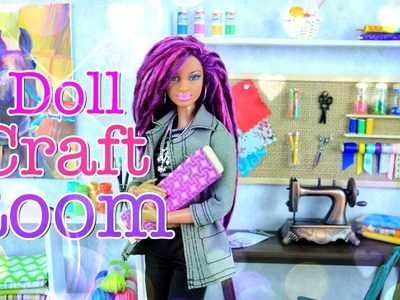 How to Make a Doll Room in a Box: Craft Room - Doll Crafts