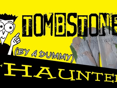 How to make Halloween Tombstones!