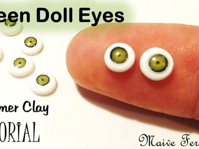 Miniature Polymer Clay Green Doll Eye Cane Tutorial | Maive Ferrando
