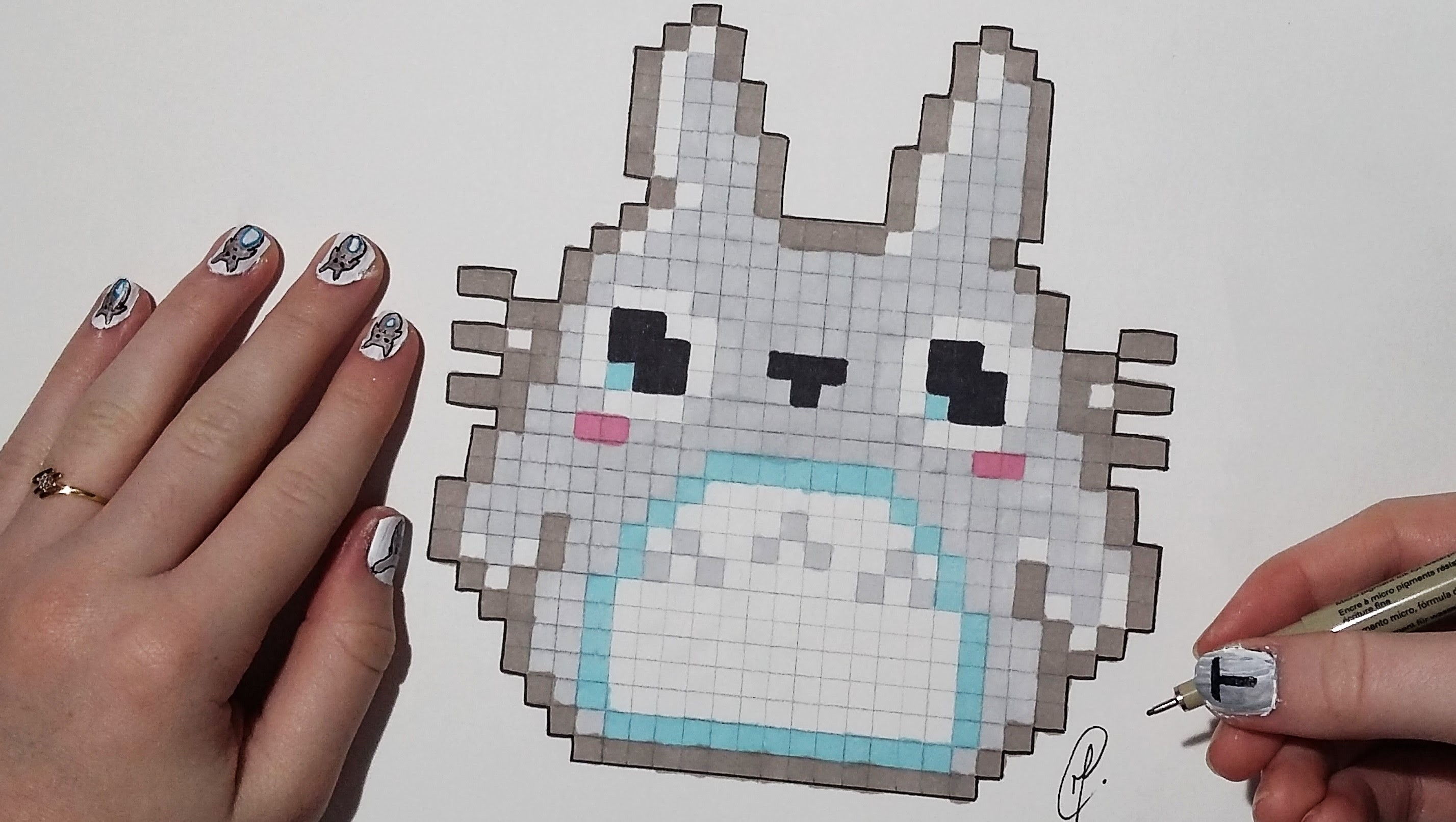Pixel Art Kawaii Totoro Easy My Crafts And DIY Projects