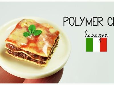 Polymer clay LASAGNE tutorial | polymer clay food