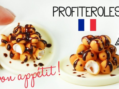 Polymer clay profiteroles TUTORIAL   polymer clay food   french pastry