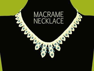 Raindrop Necklace Tutorial | Macrame School