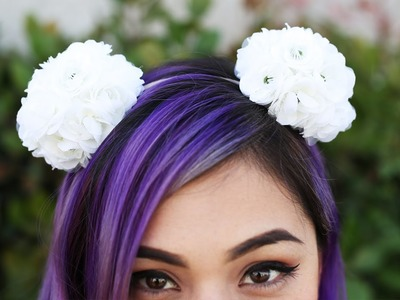 Spring Flower Pom Pom Headband - DIY