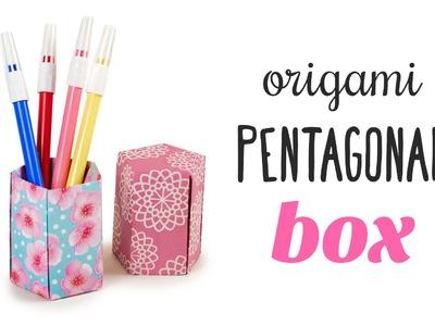 Tall Origami Pot ♥︎ Five Sided Box ♥︎ Tutorial