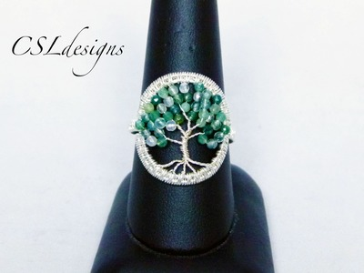 Tree of life wirework ring