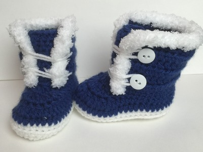 3-6 months Crocheted fuzzy. Fur boots | Video Tutorial
