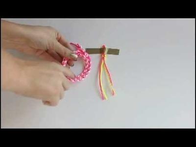 Chevron Braided Bracelet Video Tutorial