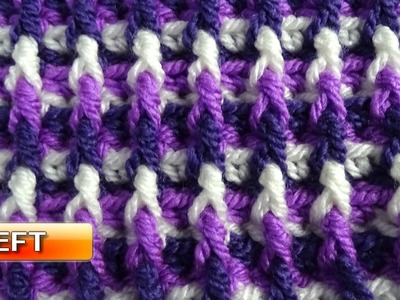 Dimension Stitch - Left handed Crochet Tutorial