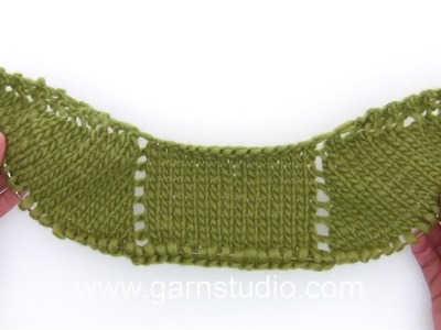 DROPS Knitting Tutorial: How to work the beginning of the shawl in DROPS 146-28