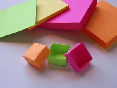 How to Create Post it Box from Sticky Note Origami