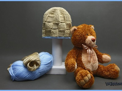 How to Crochet a Basket Weave Baby Hat