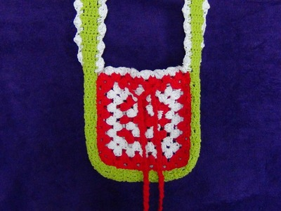 How to Crochet A Granny Square Bag