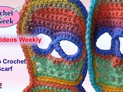 How to Crochet #Skull Scarf - Day of the Dead Part 2
