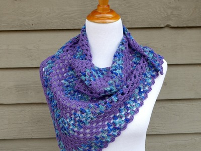 How To Crochet the Larkspur Shawlette, Episode 298