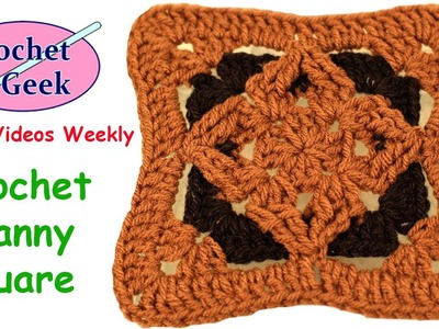 How to make a Crochet Granny Square Diamond