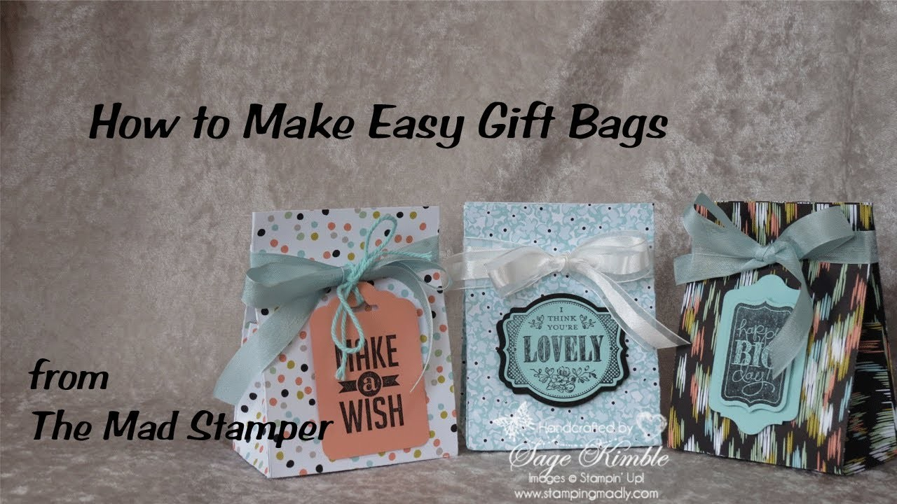 How to Make Easy Gift Bags