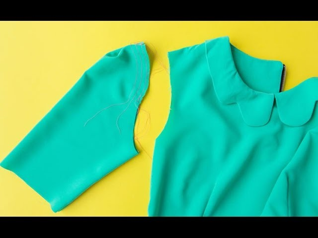 How to sew + hem sleeves for professional finish