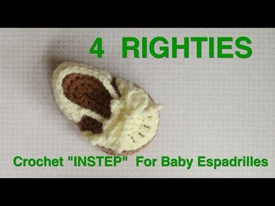 "INSTEP for 4"" Baby Espadrilles Part 3.3 (4 Righties)"