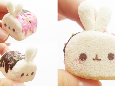 Molang marshmallow squishy tutorial ❣ (using cosmetic sponges)