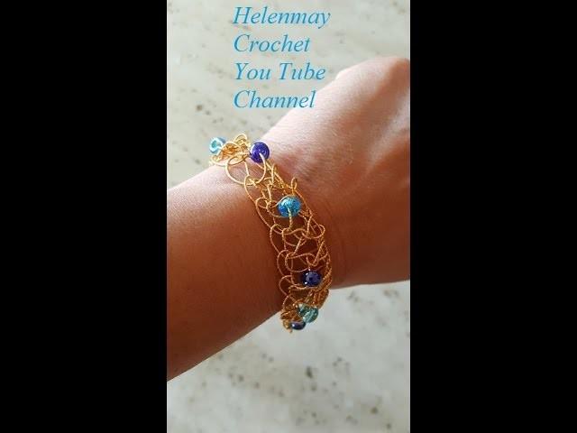 Crochet Quick and Easy Beginner Friendship Bracelet DIY ...