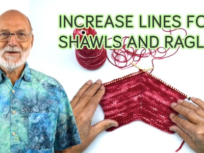 Different increase lines for Shawls and Raglan