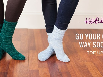 Go Your Own Way Socks - Toe Up - Full Class